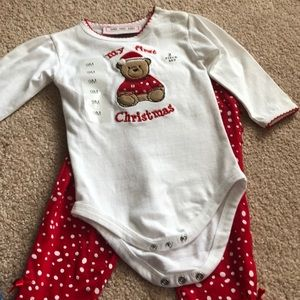 2 piece baby girl first Christmas 9M NWT